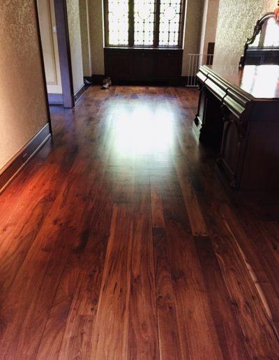 Refinished flooring